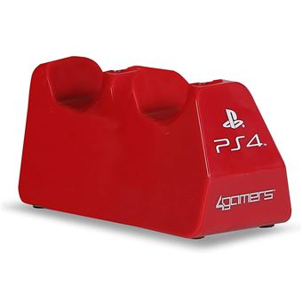 Double chargeur USB 4Gamers Rouge pour Manettes PS4