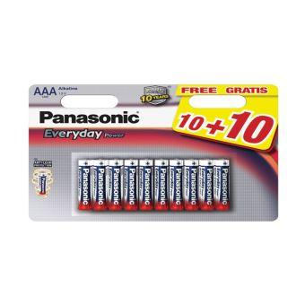 PANASONIC LR3 AAA POWER 10+10