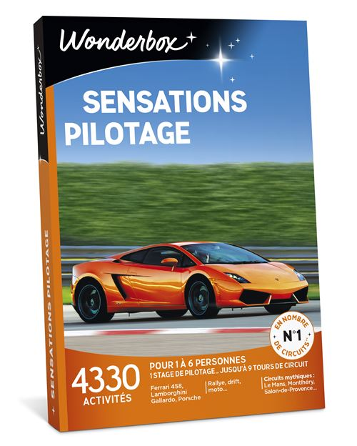 Coffret cadeau Wonderbox Sensations Pilotage