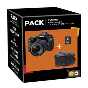 Reflex Canon EOS 80D + Objectif EF-S 18-135 IS USM