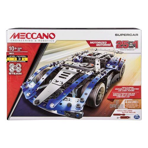 Jeu de construction Meccano Supercar 25 Modèles Motorisés