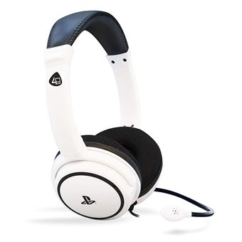 Micro Casque Gaming Stéréo 4gamers Pro 4 40 Blanc Pour Ps4