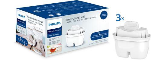 Pack de 3 filtres pour carafes filtrantes Philips Mayflower AWP211/24 Blanc