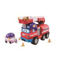 Camion pompier Super Wings et 1 Figurine Zoey