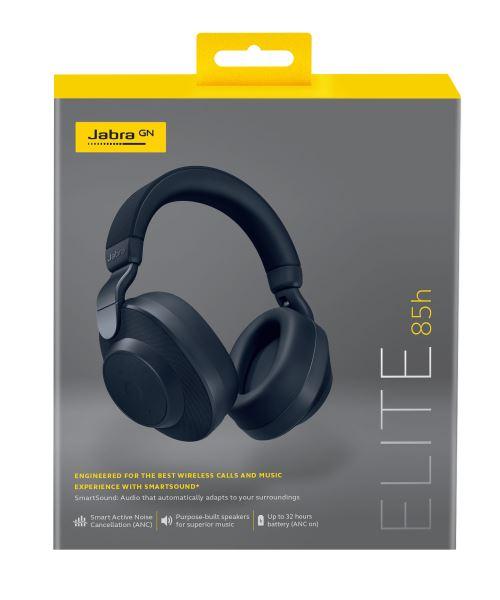 Casque sans fil à réduction de bruit Jabra Elite 85h Bleu