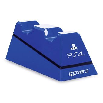 Double chargeur USB 4Gamers Bleu pour Manettes PS4