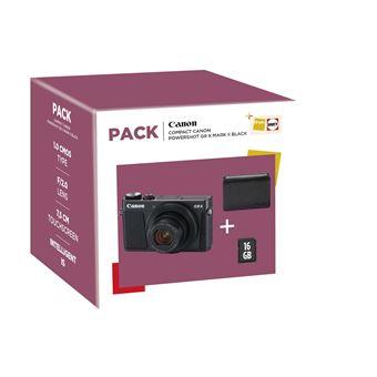 Pack Fnac Compact Canon PowerShot G9X Mark II Noir + Etui + Carte SD 16 Go