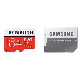 Carte microSD Samsung Evo Plus 64 Go avec adaptateur SD