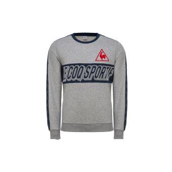 3391ba163488 Sweat Le coq sportif Tricolore Gris Taille XL - Sweat-shirt de sport ...