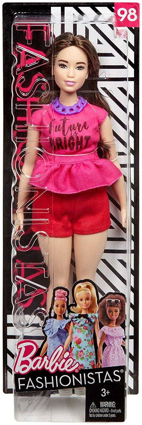 Poupée Barbie Fashionistas Future is bright Curvy - Poupée. Achat et vente de jouets, jeux de société, produits de puériculture. Découvrez les Univers Playmobil, Légo, FisherPrice, Vtech ainsi que les grandes marques de puériculture : Chicco, Bébé Confort