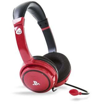 Micro-casque Gaming stéréo 4Gamers Pro 4 40 Rouge pour PS4