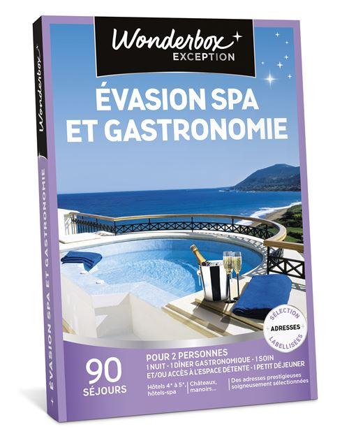 Coffret cadeau Wonderbox Évasion spa et gastronomie