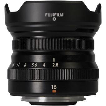 Objectif focal fixe Fuji XF 16 mm f/2.8 R WR Noir