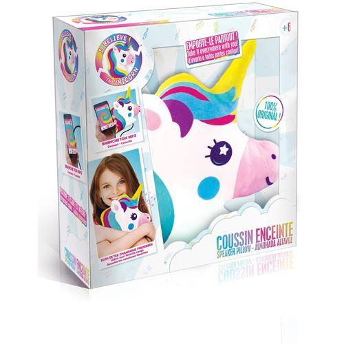 Coussin enceinte I Believe in unicorn Licorne