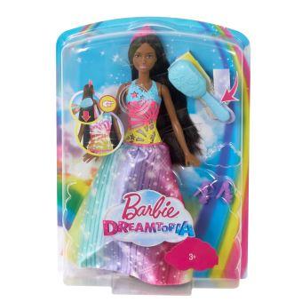 Poupée Barbie™ Dreamtopia Princesse Arc-en-ciel Sons et Lumières Brune Mattel