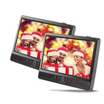 "Brandt DVDP101 Dual Scherm Portable DVD-Speler 10.1"""