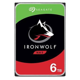 "Seagate IronWolf ST6000VN0033 - Vaste schijf - 6 TB - intern - 3.5"" - SATA 6Gb/s - 7200 tpm -buffer: 256 MB"
