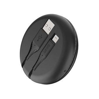 Câble Uniq Halo USB-A vers Lightning 1.2 m Noir