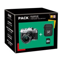 Fuji X-T20 Hybride Camera Silver + Lens XF 18-55mm + Hoes + SD-Kaart 16GB