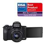 Canon Hybride Canon EOS M50 Noir + Objectif EF-M 15-45 mm f/3....