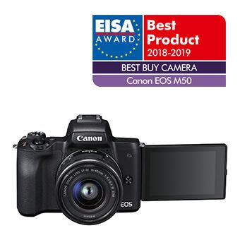 Canon Hybride Camera EOS M50 + Lens EF-M 15-45mm S Black