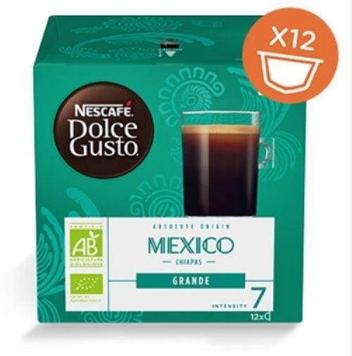 Boîte de 12 capsules Nescafé Dolce Gusto Grande Mexico Bio