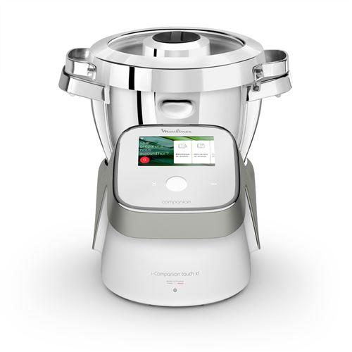 Robot cuiseur Moulinex I-Companion Touch XL HF938E00 Blanc et Argent