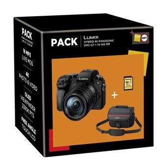 Fnac Pack Panasonic Lumix DMC-G7 Hybride Camera + 14-140mm ASPH Lens + 16GB SDHC-Geheugenkaart + Draagtas