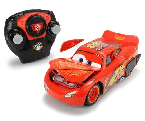 Voiture radiocommandée Majorette Cars 3 Crash Lightning Mc Queen 1:24