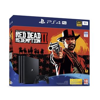Pack Console Sony PS4 Pro 1 To Noir + Red Dead Redemption 2