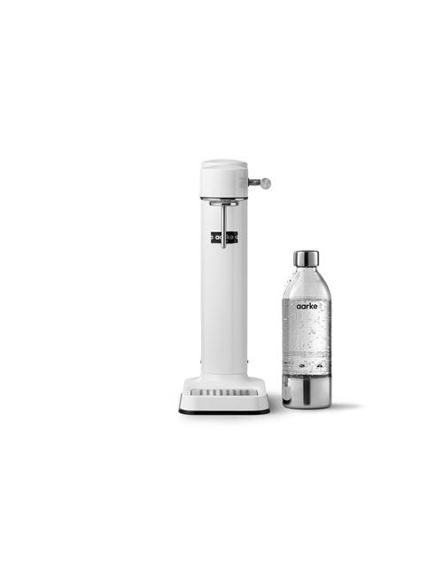 Machine à eau pétillante Aarke Carbonator 3 Blanc avec une bouteille PET incluse