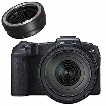 Canon EOS RP Hybride Behuizing + RF 24-105mm f/4L IS USM Lens + EF-EOS R Adapterring