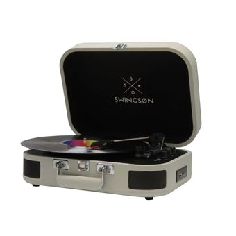 Platine vynile Swingson On Stage Bluetooth Gris