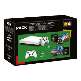 Pack Fnac Console Microsoft Xbox One X 1 To + 2ème manette + Forza Horizon 4 + Hellblade Senua's Sacrifice + Devil May Cry 5 + PlayerUnknown's Battlegrounds + Fallout 76 + Gears of War 4