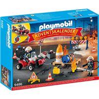 Playmobil Christmas La magie de Noël 9486 Calendrier de l'Avent Pompiers incendie chantier