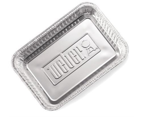 10 Barquettes aluminium Weber
