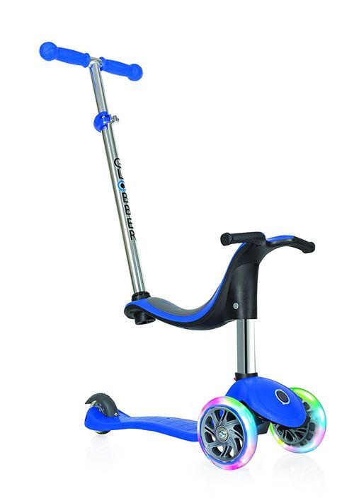 Trottinette 3 roues Globber Evo 4 en 1 Lights Bleu