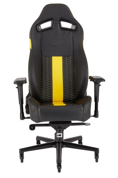 Fauteuil Gaming Corsair T2 Road Warrior Noir et jaune