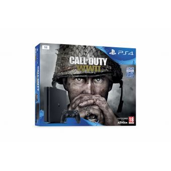 Pack Console Sony PS4 1 To Noire + Call of Duty World War II + Qui es-tu ?