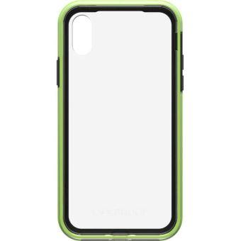 Coque rigide LifeProof Slam Transparent Noir et vert pour iPhone X