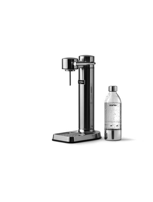 Machine à eau pétillante Aarke Carbonator 3 Argent avec une bouteille PET incluse