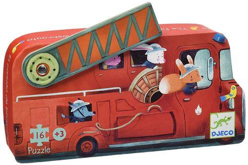 Puzzle 16 pièces Djeco Le camion de pompier
