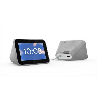 Lenovo Smart Clock - Slimme weergave - LCD - 4 inch - 480 x 800 - draadloos - Wi-Fi, Bluetooth - 3 Watt - grijs