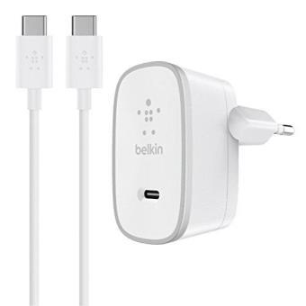 Chargeur secteur Belkin avec Câble USB-C vers USB-C 1.5 m Blanc