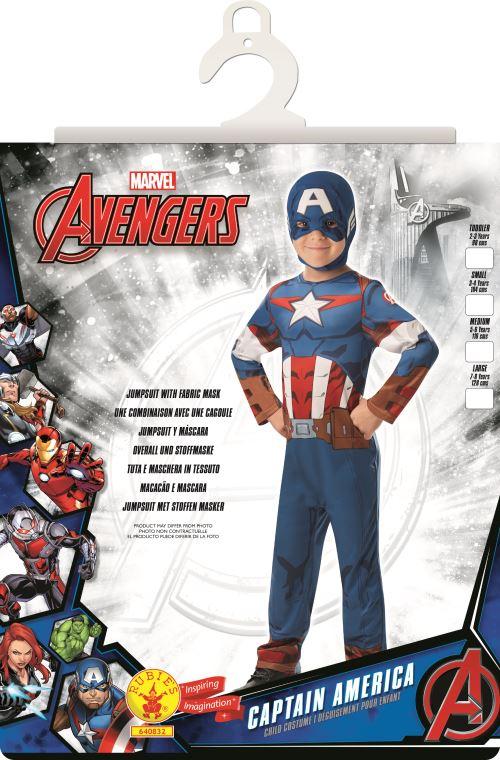 Costume officielle classique Marvel Avengers Captain America enfant 7–8 ans Taille unique