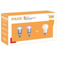 Pack Ampoules connectées Xiaomi Mi LED Smart Bulb Color + Mi Philips WiFi Blanc E27