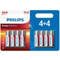 Pack de 4+4 piles Alcaline AA LR06