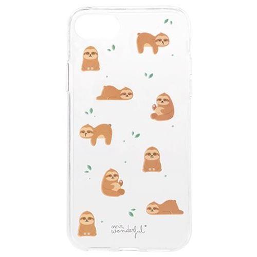 Coque Mr. Wonderful Slow Collection Paresseux pour iPhone 6, 7 et 8