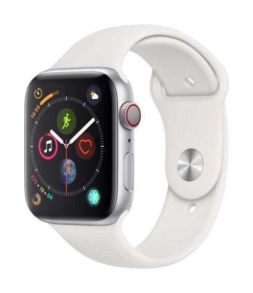 Fnac.com : Apple Watch Series 4 Cellular 44 mm Boîtier en Acier inoxydable avec Bracelet Sport Blanc - Montre connectée.