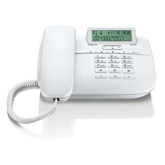Téléphone fixe filaire Gigaset DA610 Blanc